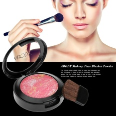 Promo Abody Makeup Mixed Colors Face Blusher Powder Palette Cosmetic Blusher Powder Make Up 3 Colors With Mirror Brush Pink Intl
