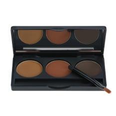 Iklan Abody Professional 3 Warna Alis Mata Alis Shadow Palette Eyeliner Bedak Alami Coffee Brown Warna Kosmetik Alat Makeup Kit Dengan Brush Cermin Internasional