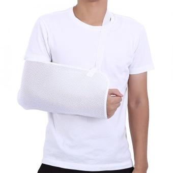 Bandingkan Toko Adjustable Bernapas Mesh Penyangga Lengan Kawat Penyangga Siku Bahu Immobilizer (Putih)-