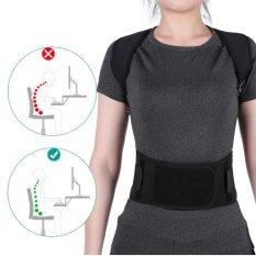 Model Adjustable Postur Benar Sabuk Kembali Lumbar Support Korektor Bahu Band Hitam Xxl Intl Terbaru