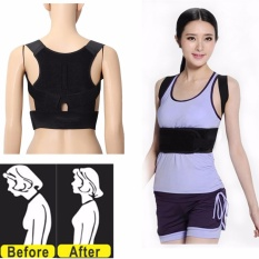 Toko Jual Adjustable Support Correction Back Lumbar Shoulder Brace Belt Posture Corrector Xl Intl