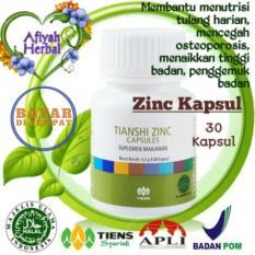 Afiyah Herbal / Tiens Zinc Capsules / Isi 30 kapsul / Penambah Nafsu Makan / Penggemuk Badan / Peninggi Badan / Imunitas Terbukti 100% Ampuh