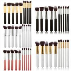 Beli Ai Home 10 Pcs Makeup Brush Set Cosmetic Blending Pensil Brushes Putih Gold Online Tiongkok