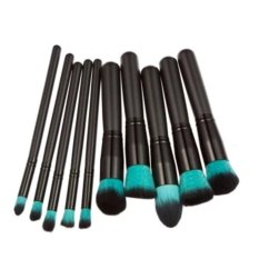 Ai Home 10 Pcs Profesional Make Up Brushes Kuas Kosmetik Set (Green + Hitam)-Intl
