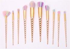 Jual Ai Home 10 Buah Benang Unicorn Set Kuas Kosmetik Makeup Emas Branded