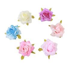 Dapatkan Segera Ai Home 6 Pcs Hairpin Simulasi Rose Korsase Bunga Aksesoris Rambut Warna Campuran Intl