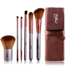 Review Toko Ai Home 6 Pcs Pro Kosmetik Makeup Brush Set Pouch Bag Coffee