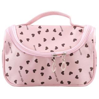 Ai Home Portable Wanita Tas Makeup dengan Cermin Kasus Kosmetik Kecil Peach Heart (Pink)-Intl thumbnail