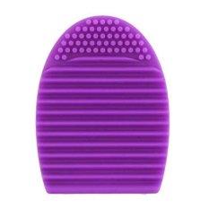 AIUEO - Brush Egg Cleaning Brush Tool Beauty Makeup Tools - Purple