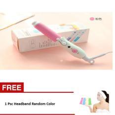 Aiueo Alat Catok Keriting / Penggulung Rambut Chaozan - Chaozan Catok Curly Pink Free Headband