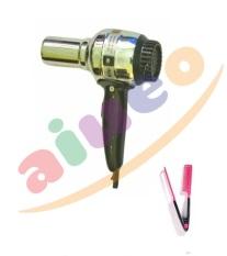 AIUEO - Hair Dryer Rainbow - Pengering Rambut Bundling Sisir Ion Pelurus Rambut Alami Pink 1 Pcs