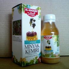 Al Khodry Minyak Kemiri Premium Gold Plus Zaitun - Minyak Herbal Alami Penumbuh Rambut dan Jambang
