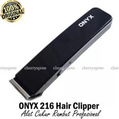 Promo Toko Alat Cukur Rambut Onyx Hair Clipper Ox216 Hair Trimmer Rechargeable Hitam