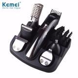 Alat Mesin Cukur Kemei Rechargable 6 In 1 Hair Trimmer Beard Shaver Razor Km 600 Exclusive Asli