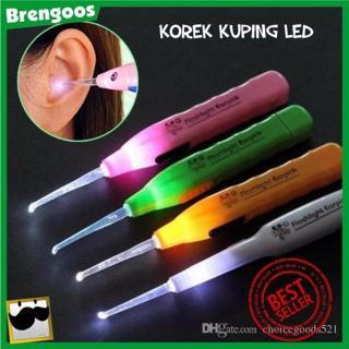 Korek Kuping 3 in 1 LED Flashlight Earpick Korek Kuping LED Plus Tweezer - Random Colour thumbnail