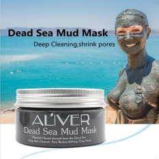 Review Pada Aliver Dead Sea Mud Mask Cleaning Black Mask For The Face Acne Blemish Deep Oil Control Whitening Pores Shrinking Face Mask 50G Intl
