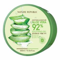 Diskon Nature Republic Aloe Vera Soothing Moisture Gel Aloe Vera 92 300Ml Original Nature Republic North Sumatra