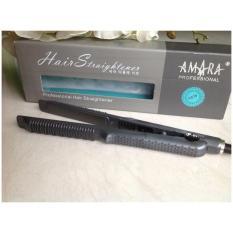 Jual Amara Profesional Hair Straightener Catok 2In1 Hitam Import
