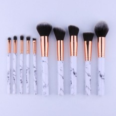 Amart 10 Pcs/set Profesional Makeup Brushes Marbling Handle Eye Shadow Alis Lip Eye Make