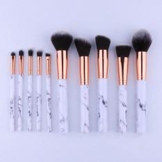 Amart 10 Pcs/set Profesional Makeup Brushes Marbling Handle Eye Shadow Alis Lip Eye Make Up Brush Comestic Alat-Internasional