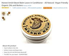 Amazon Best Seller Honest Amish Beard Balm Leave-In Conditioner Import