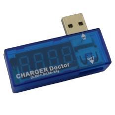 Aoyou USB Mini Pengisi Daya Doktor Alat Uji Tegangan Uji Alat Amp Volt Pembaca, Biru