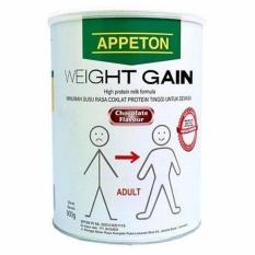 Appeton Weight Gain Susu Rasa Cokelat 900gr Dewasa