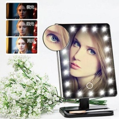 Arctic Land Beauty Ready Stock Membuat Up Vanity Illuminated Desktop Meja Makeup Berdiri Cermin dengan 21 LED Cahaya-Intl