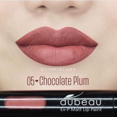 Aubeau Ex-P Matt Lip Paint (05 Chocolate Plum) - Warna Pigmented Lipstick Matte