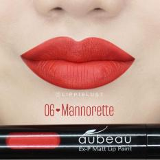 Aubeau Ex-P Matt Lip Paint (06 Mannorette) - Warna Pigmented Lipstick Matte