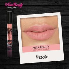 Aura Beauty Lipstik Warna aries PROMO MURAH Lipmatte Dengan Hasil Yang Matte Tahan Lama Dan Waterproof