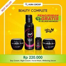Spesifikasi Aura Beauty Paket Extra Whitening Cream Pemutih Wajah Alami Dan Aman 100 Original Halal Yang Bagus