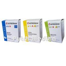 Spek Autocheck Strip Glucose Gula Darah Cholesterol Kolesterol Dan Urid Acid Asam Urat Autocheck