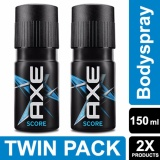 Harga Axe Deodorant Bodyspray Score 150Ml Twin Pack Terbaik