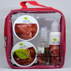 Bali Ratih - Paket Body Scrub, Body Butter, Body Lotion, Body Mist + Free Plastic Pouch - Apple By Sekar Jagat Bali.