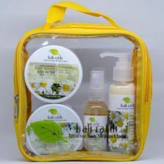 Bali Ratih - Paket Body Scrub, Body Butter, Body Lotion, Body Mist + Free Plastic Pouch - Chamomile By Sekar Jagat Bali.