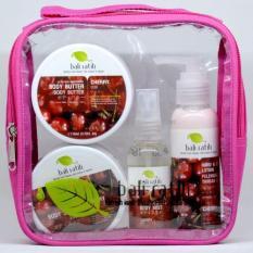 Bali Ratih - Paket Body Scrub, Body Butter, Body Lotion, Body Mist + Free Plastic Pouch - Cherry By Sekar Jagat Bali