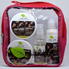 Bali Ratih - Paket Body Scrub, Body Butter, Body Lotion, Body Mist + Free Plastic Pouch - Chocolate By Sekar Jagat Bali.