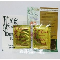 Jual Bamboo Gold Foot Patch New Original 20 Pasang Koyo Penyerap Racun Kinoki Baby Hanaka Murah Jawa Barat
