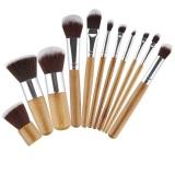 Jual Pegangan Bambu Dengan Bulu Sintetis Profesional Makeup Brush Set Oem Branded