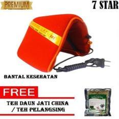 Bantal Panas Kesehatan - Belt Health, Belt Sauna, Sabuk Terapi - Hitam + FREE Teh Daun Jati Cina / Teh Pelangsing 1Pcs @40Gr