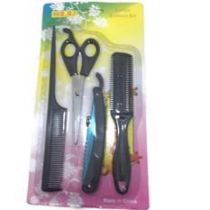 Rp 31.300. Barber Scissors Kits Peralatan Gunting salon - Sisir ...