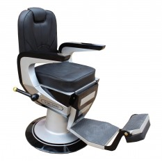 Barbers - Kursi Barbershop - Hitam-Silver
