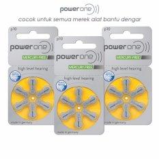 Jual Baterai Alat Bantu Dengar Powerone P10 Mercury Free Hearing Aid Battery Original