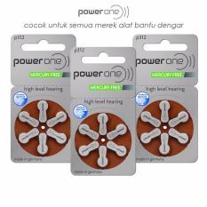 Toko Baterai Alat Bantu Dengar Powerone P312 Mercury Free Hearing Aid Battery Termurah