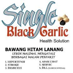 Bawang Lanang Garlic Bawang Hitam Jantan Herbal Alami 250gr (hitam)