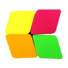 Beau Spons Beauty Blender Diamond - 4 Pieces - Multicolors