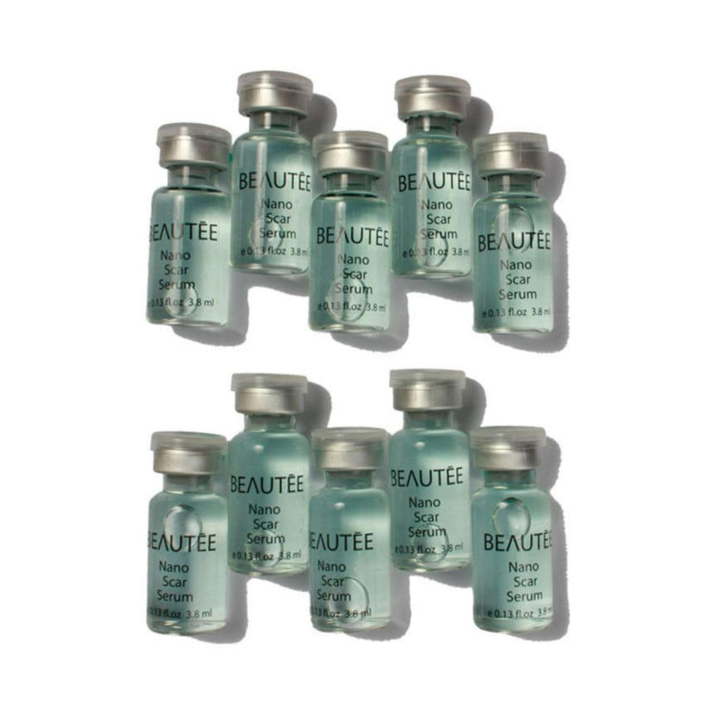 Tidak menyebabkan iritasi dan jerawat Beautee Nano Scar Serum - 1 Dus 10 Botol Penghilang Bekas Luka Parut Bopeng Jerawat -