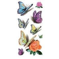 Beautiful 3D Butterfly Tattoo Design Temporary Waterproof Body Tato Sticker