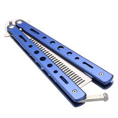 Iklan Benchmade Balisong Butterfly Comb Sisir Lipat Stainless Blue Edition